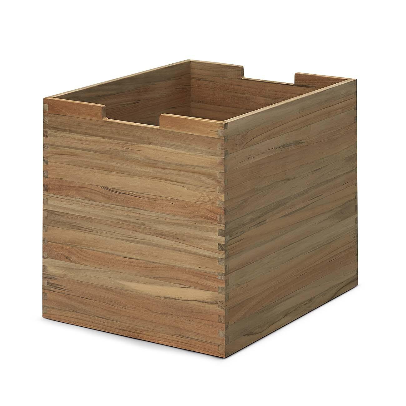 skagerak cutter box groß mit rollen teak s1920420 möbel aufbewahrung