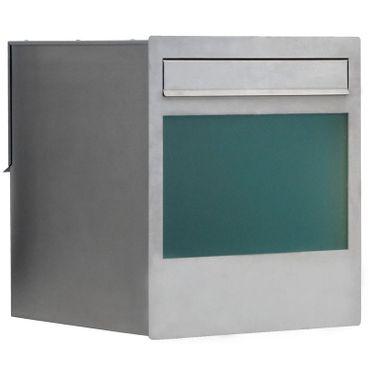 Max Knobloch Mauerdurchwurf-Briefkasten Cube Edelstahl 48 Liter Einbau-Briefkasten – Bild 1