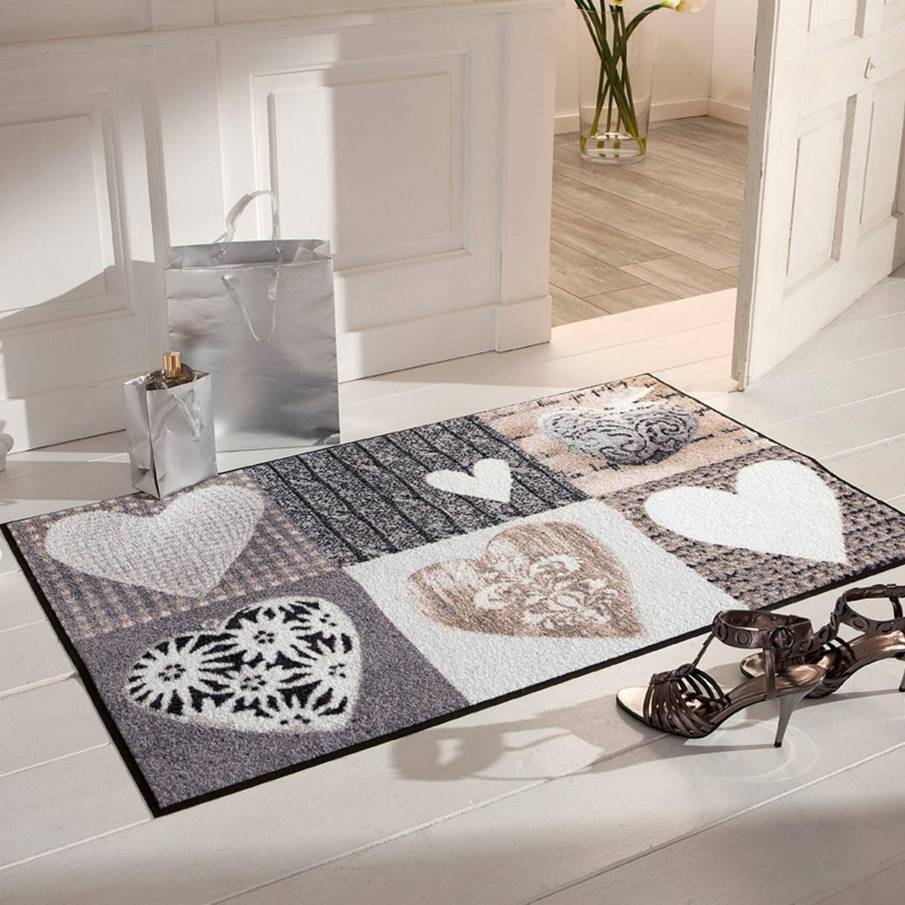 salonloewe fu matte waschbar alpengl ck herzen 75x120 cm sld0122 075x120. Black Bedroom Furniture Sets. Home Design Ideas
