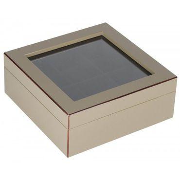 Giftcompany Tang Uhrenbox M für 6 Uhren schlamm 19x7,6x19 cm