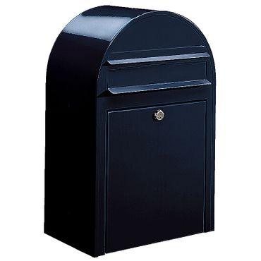Bobi Classic Briefkasten RAL 5004 schwarzblau Wandbriefkasten – Bild 1