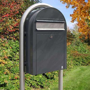 Bobi Classic Briefkasten RAL 9016 weiß Wandbriefkasten – Bild 2