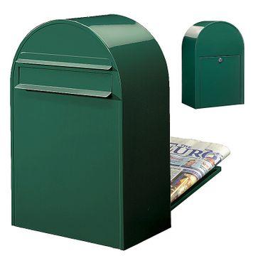 Bobi Classic B Briefkasten RAL 6005 grün Zaunbriefkasten