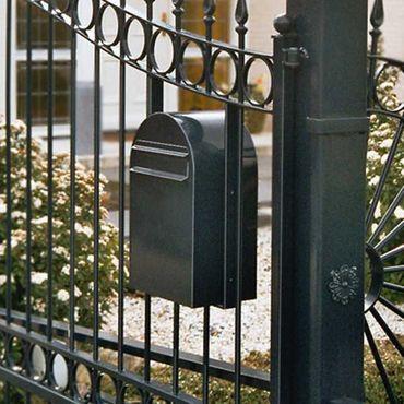 Bobi Classic B Briefkasten COL 6064 schwarzgrün Zaunbriefkasten – Bild 2