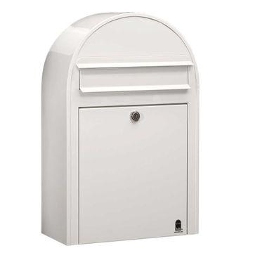 Bobi Classic S Briefkasten RAL 9016 weiß Wandbriefkasten