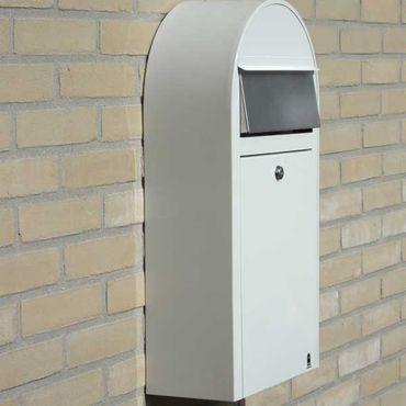 Bobi Grande S Briefkasten RAL 5004 schwarzblau, Klappe aus Edelstahl Wandbriefkasten – Bild 4