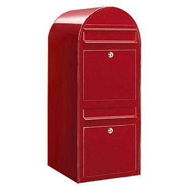 Bobi Duo Briefkasten RAL 3001 rot Wandbriefkasten – Bild 1