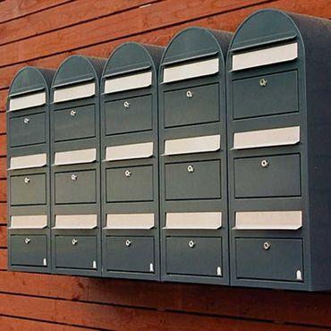 Bobi Trio Briefkasten COL 6064 schwarzgrün Wandbriefkasten – Bild 2