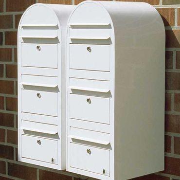 Bobi Trio Briefkasten RAL 9005 strukturschwarz Wandbriefkasten – Bild 4