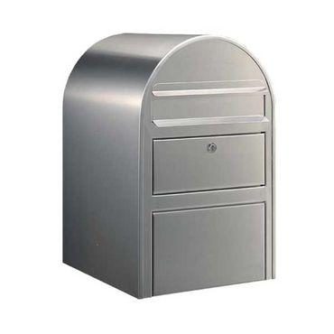 Bobi Swiss Briefkasten mit Paketfach Edelstahl (V2A) Wandbriefkasten