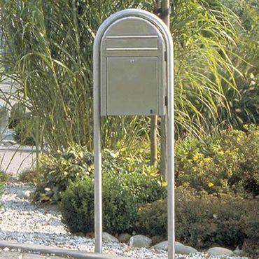 Bobi Round RAL 3001 rot Briefkastenständer – Bild 3