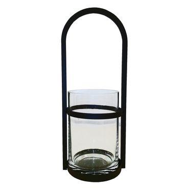 Laterne Hereford aus Eisen mit Glaseinsatz ca.30 cm hoch  740323 Teelichthalter Wohnmanufaktur Grünberger