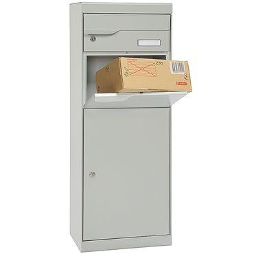 MEFA Paketpostkasten Etna (771) Entnahme Vorne Namensschild Anthrazitgrau RAL 7016 Standbriefkasten Briefe+Pakete  – Bild 2
