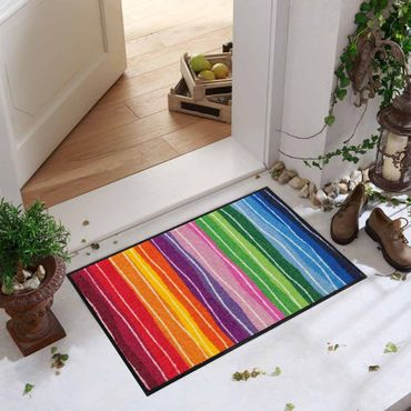 Salonloewe Fußmatte waschbar Pure Style Wavy Lines Bunt 50x75 cm SLD1075-050x075 – Bild 3