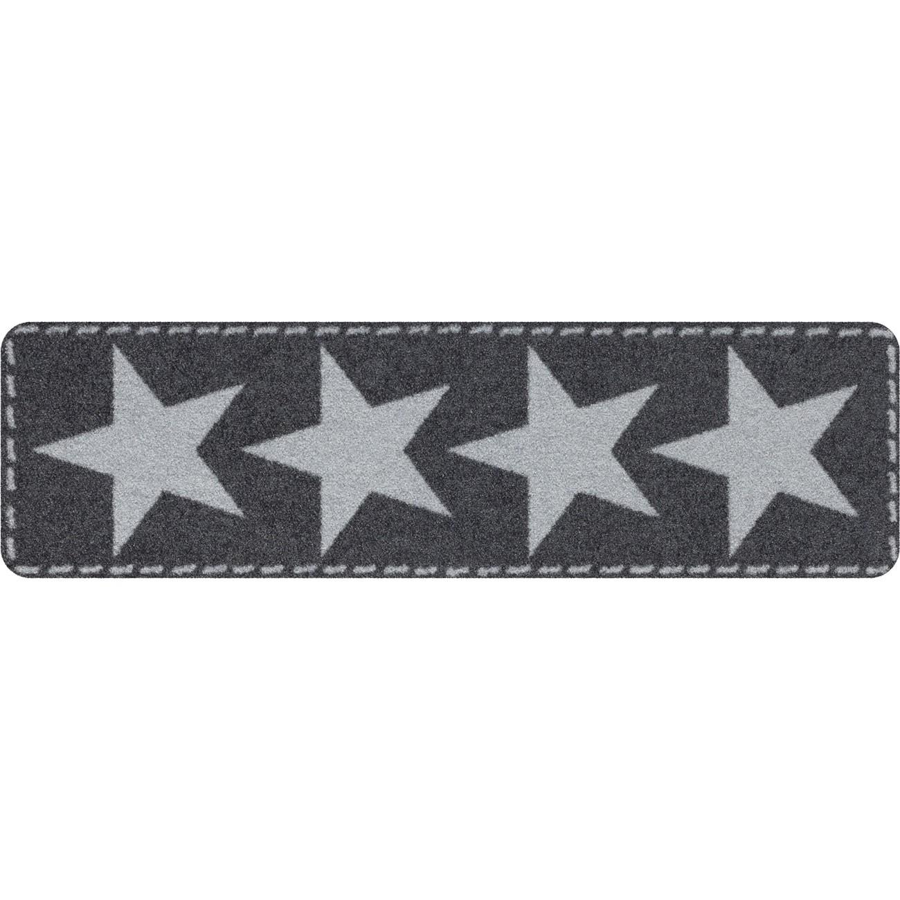 salonloewe fu matte waschbar minimatte stars silver 30x100 cm sld0936 030x100 eingang garten. Black Bedroom Furniture Sets. Home Design Ideas