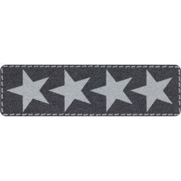 Salonloewe Fußmatte waschbar Minimatte Stars Silver 30x100 cm SLD0936-030x100