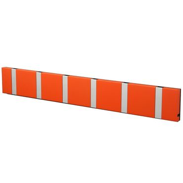 LoCa Garderobe Knax 6 hot orange (Haken klappbar Alu)