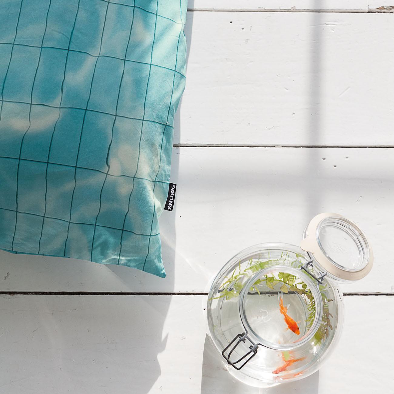 snurk bettw sche pool 200 x 220 cm 100 baumwolle deko ambiente. Black Bedroom Furniture Sets. Home Design Ideas