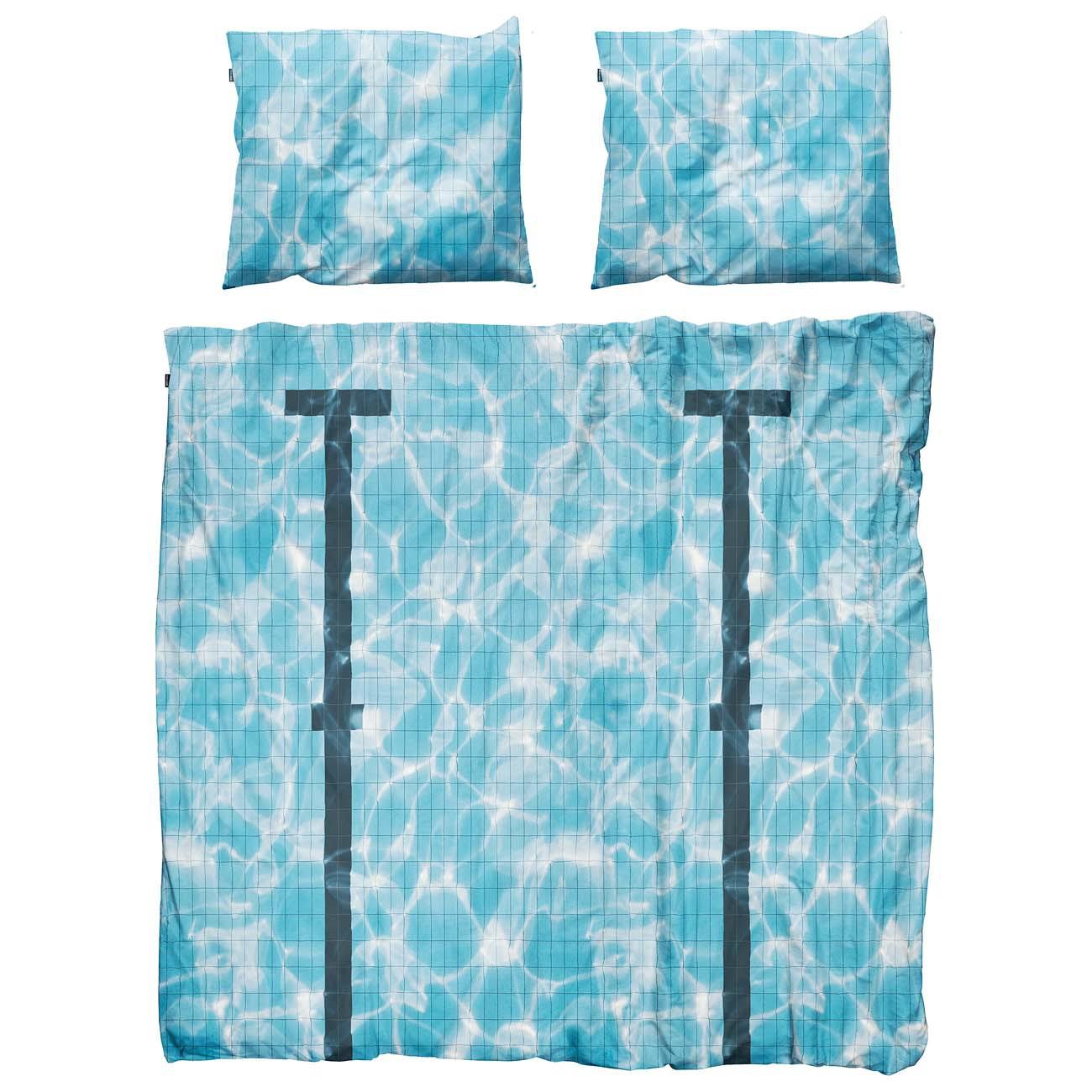 snurk bettw sche pool 200 x 220 cm 100 baumwolle deko. Black Bedroom Furniture Sets. Home Design Ideas