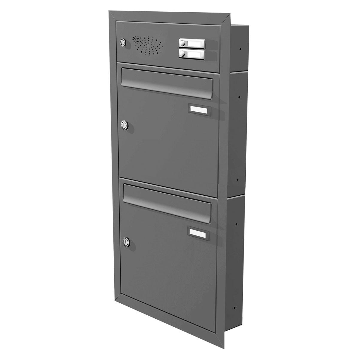 max knobloch unterputz briefkastenanlage 1 12 briefk sten te110 funktionstasten ebay. Black Bedroom Furniture Sets. Home Design Ideas