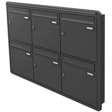 max knobloch unterputz briefkasten anthrazit ral 7016 12. Black Bedroom Furniture Sets. Home Design Ideas