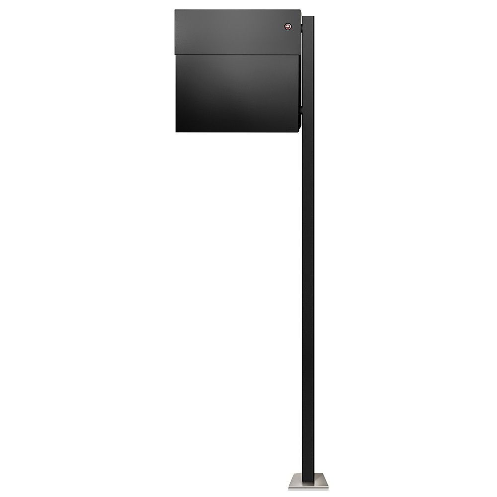 radius standbriefkasten letterman 4 schwarz mit led klingel und pfosten inkl. Black Bedroom Furniture Sets. Home Design Ideas