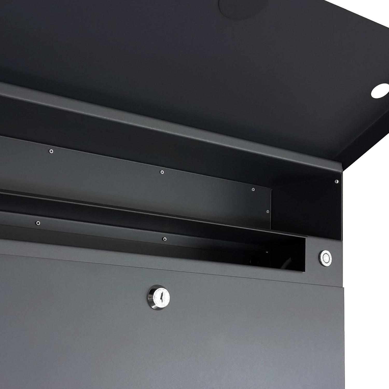 Radius Briefkasten Letterman XXL 2 silber mit LED-Klingel und ...