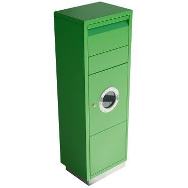 Radius Paketbriefkasten - Letterman Standing Ovation 1 - mit Bullauge - grün - 600 B