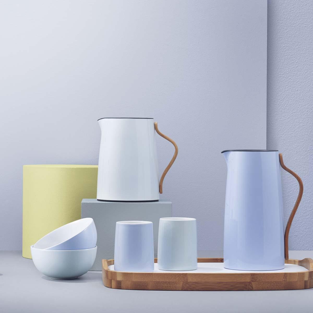 stelton emma 2er set thermobecher blau 0 2 liter speisen servieren geschirr tassen becher. Black Bedroom Furniture Sets. Home Design Ideas