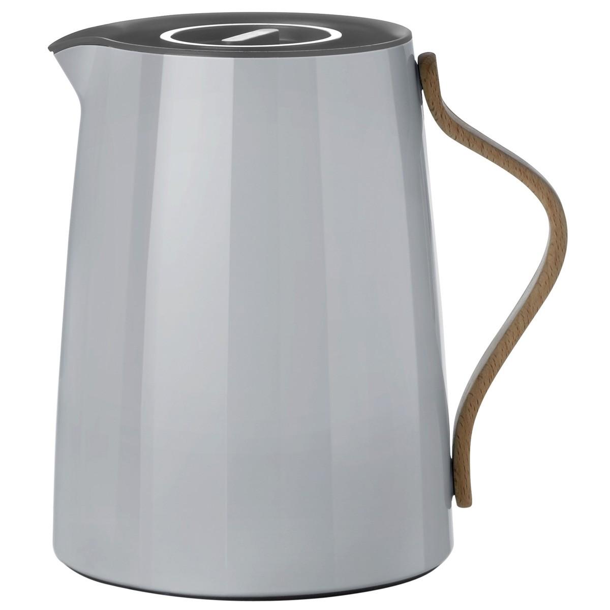 stelton emma isolierkanne f r tee 1 liter grau speisen servieren kannen isolierkannen. Black Bedroom Furniture Sets. Home Design Ideas