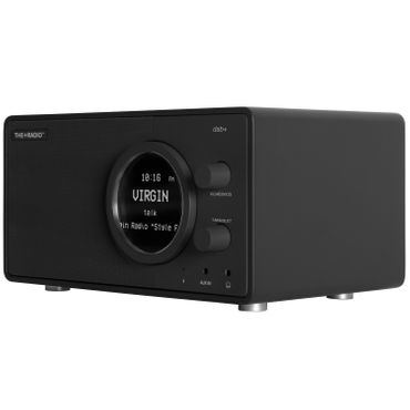 THE+AUDIO PlusRadio DAB+ fernbedienbares Digitalradio (UKW, DAB+. Wecker ,Bluetooth 4.0) anthrazitgrau