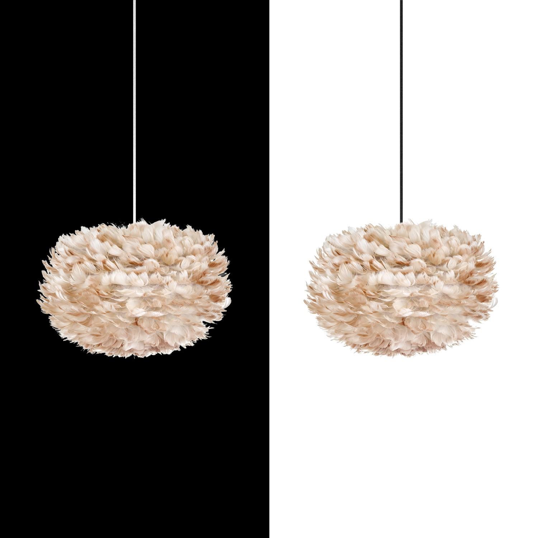 vita eos lightbrown lampenschirm aus federn hellbraun d 45. Black Bedroom Furniture Sets. Home Design Ideas