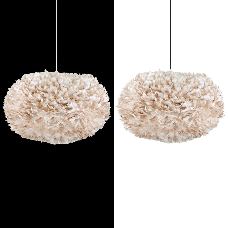 vita eos xl lightbrown lampenschirm aus federn hellbraun d. Black Bedroom Furniture Sets. Home Design Ideas