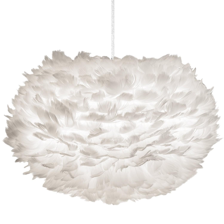 Design Feder Hängeleuchte Ess Wohn Schlaf Küchen Zimmer Lampe Pendellampe weiß