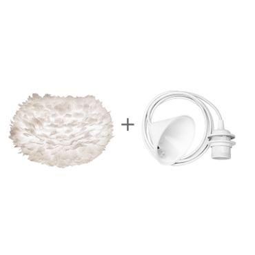 Umage / VITA Eos Large Hängeleuchte für A++ bis E inkl. Kabel und Fassung weiss 65 x 65 x 40 cm Lampe