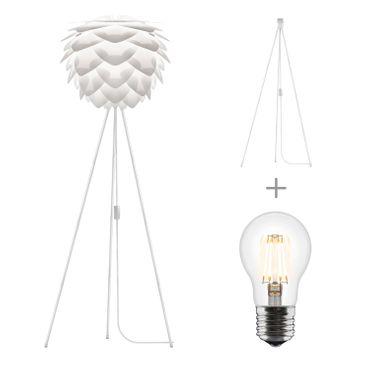 Umage / VITA Silvia Stehleuchte weiss für A++ bis E inkl. Tripod und LED A+ D 45 cm H 154 cm Lampe