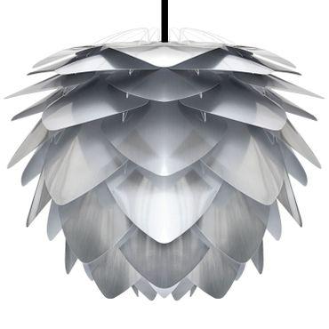 Umage / VITA Silvia Steel Hängeleuchte für A++ bis E inkl. Kabel und Fassung steel, Kabel schwarz D 45 cm Lampe