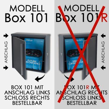 Briefkasten MOCAVI Box 101 anthrazitgrau (RAL 7016)/grau 10 Liter ohne Zeitungsfach  – Bild 5