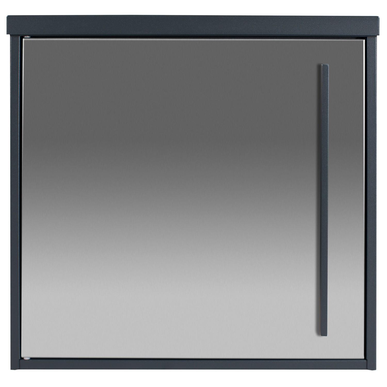 Design-Briefkasten MOCAVI Box 102 Edelstahl/anthrazitgrau RAL 7016  Wandbriefkasten 10 Liter