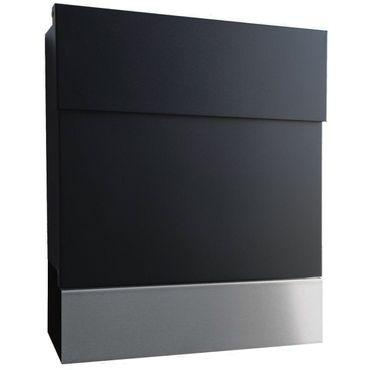 Radius Briefkasten Letterman 5 schwarz mit Edelstahl Zeitungsrolle - 560 F + 505-L