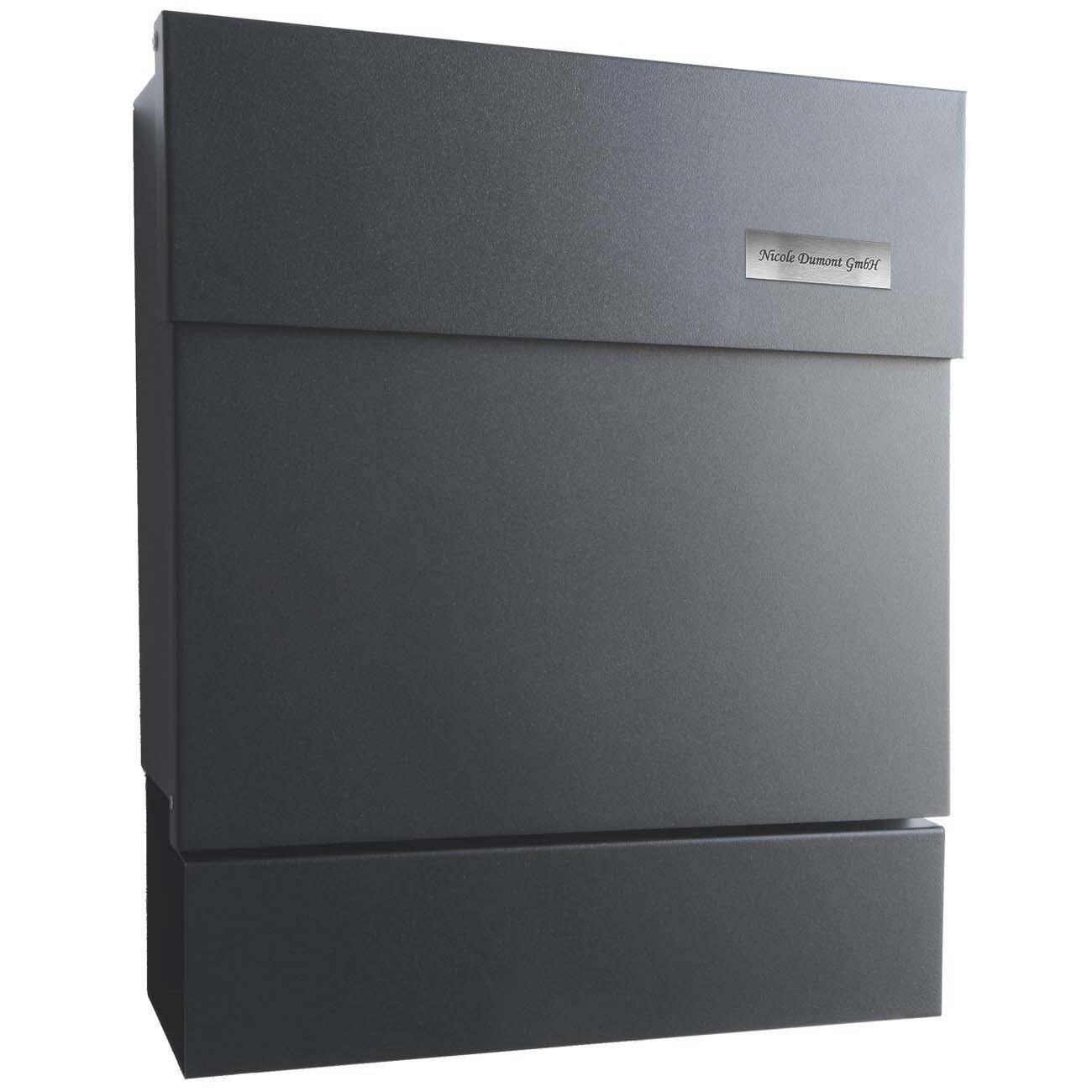 briefkasten letterman 5 anthrazit ral 7016 mocavi. Black Bedroom Furniture Sets. Home Design Ideas
