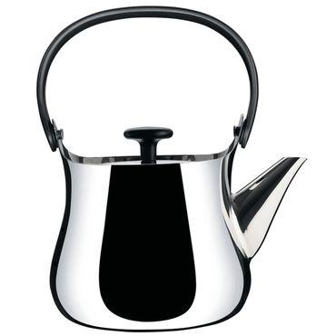 Alessi Cha Wasserkessel Teekanne aus Edelstahl glänzend poliert NF01