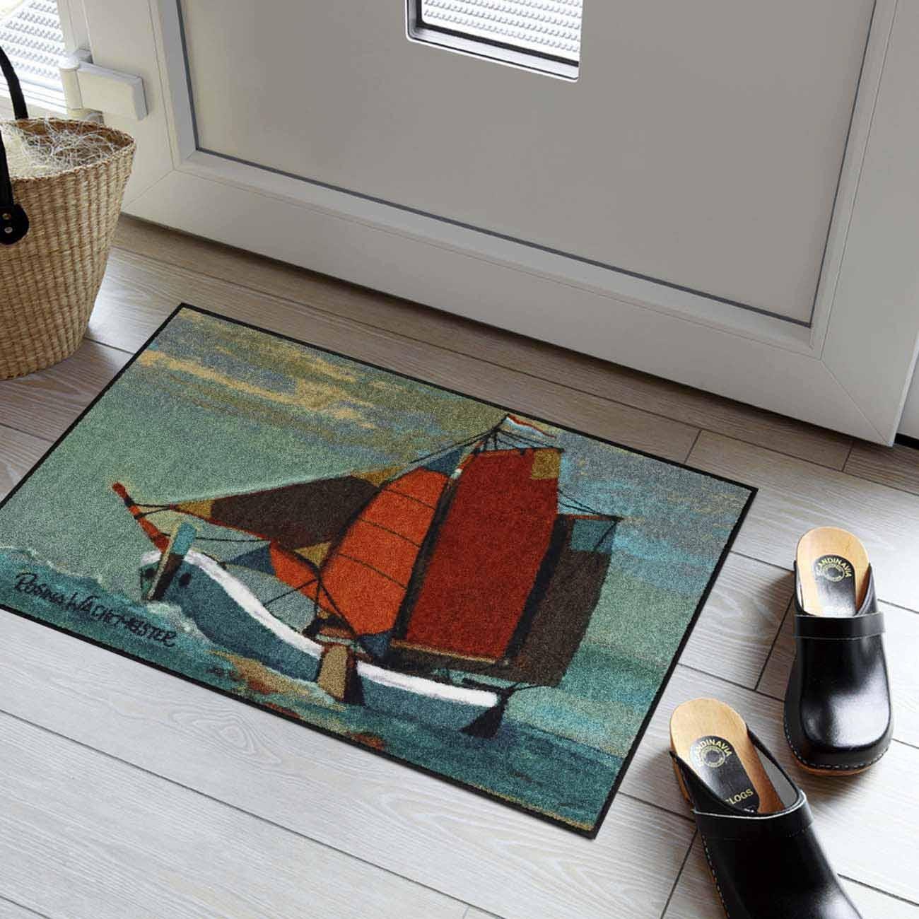 rosina wachtmeister fu matte waschbar sail away 50x75 cm sld1313 050x075 eingang garten fu matten. Black Bedroom Furniture Sets. Home Design Ideas