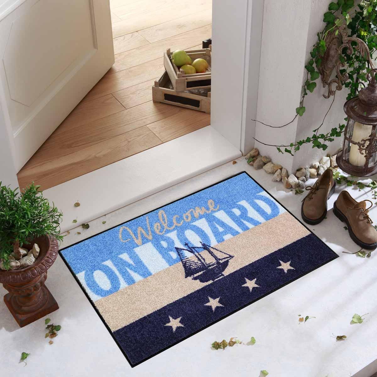 salonloewe fu matte waschbar welcome home yacht 50x75 cm sld1293 050x075 eingang garten fu matten. Black Bedroom Furniture Sets. Home Design Ideas