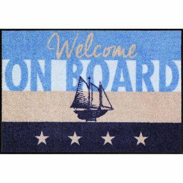 Salonloewe Fußmatte waschbar Welcome Home Yacht 50x75 cm SLD1293-050x075