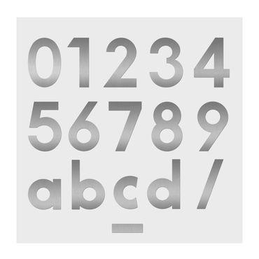 Heibi Hausnummer MIDI Buchstabe a Edelstahl 64480-072 – Bild 2