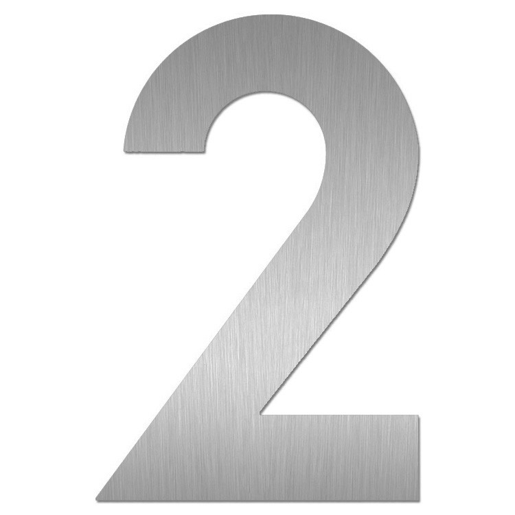 heibi hausnummer midi 2 edelstahl zum kleben 64582 072 eingang garten hausnummern. Black Bedroom Furniture Sets. Home Design Ideas
