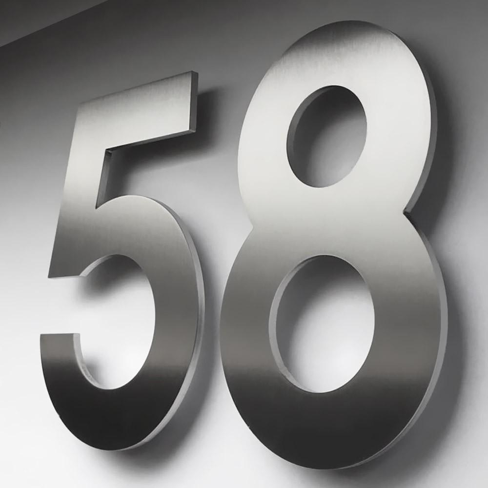 heibi hausnummer midi 7 edelstahl zum kleben 64587 072 eingang garten hausnummern. Black Bedroom Furniture Sets. Home Design Ideas