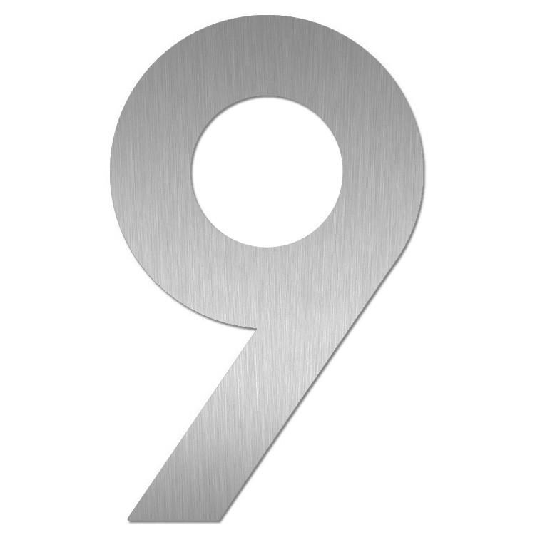 heibi hausnummer midi 9 edelstahl zum kleben 64589 072 eingang garten hausnummern. Black Bedroom Furniture Sets. Home Design Ideas