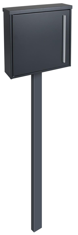 standbriefkasten mit zeitungsfach pfosten anthrazitgrau. Black Bedroom Furniture Sets. Home Design Ideas